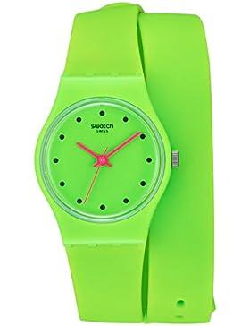 Swatch Damen-Armbanduhr Analog Quarz Silikon LG128