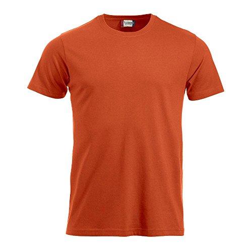 Clique Herren T-Shirts New Classic blutorange (18)