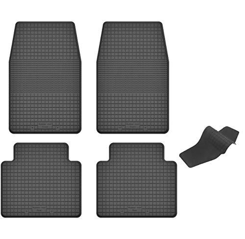 KO-RUBBERMAT Gummimatten mit Tunnel geeignet zur Nissan NAVARA I (Bj. 1986-1997) ideal angepasst 5-Teile EIN Set - Nissan Teile 1986