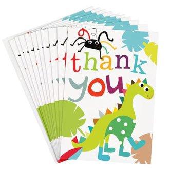 Tarjetas de agradecimiento–dinosaurios por Caroline Gardner–10tarjetas en un paquete