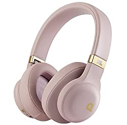 JBL E55BT Quincys Signature Sound Wireless Over-Ear Headphones (Dusty Rose)