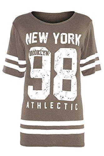 Divadames - T-shirt de sport - Coque - Femme Moka