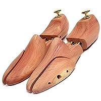 WANONE Shoe Tree Cedar Wood for Men Women 2 Pairs Gold Size 9.5
