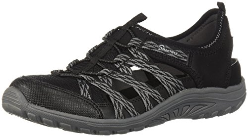 Skechers Women's Reggae Fest-Squirt-Fisherman Slingback Casual Water Shoe, Black/Grey, 6.5 M US - Skechers Fest Reggae