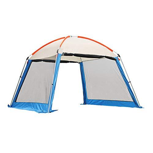 Forall-Ms 3x3m Camping Pavillons mit Seiten, Pavillon Garten Pavilion Partyzelt Schutzhütte,Wasserdichte Überdachung Leichtgewicht, Wandern und Grillen,A