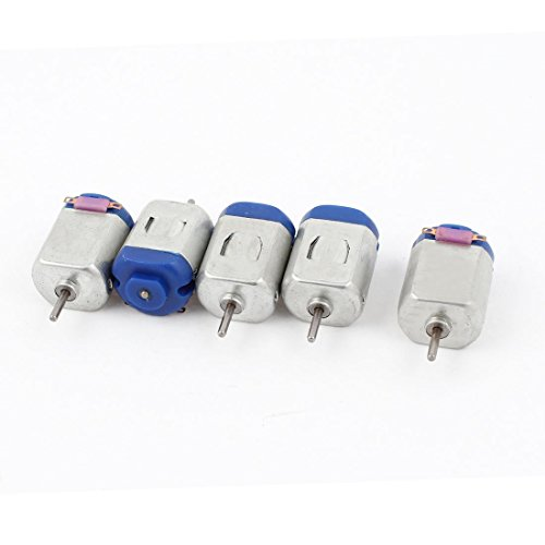 Podoy 5PCS 130-16140 6V 12500RPM DC Motor w Varistor for Smart Car Model Toy Test