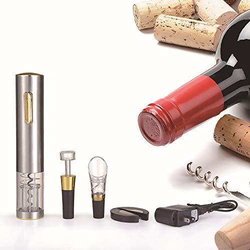 ZYG.GG Elektrisch Flasche Öffner, Professionel Automatik Korkenzieher Wein Öffner, einstellen mit von Folienschneider, Wein Ausgießer und Vakuum Wein Stopper -
