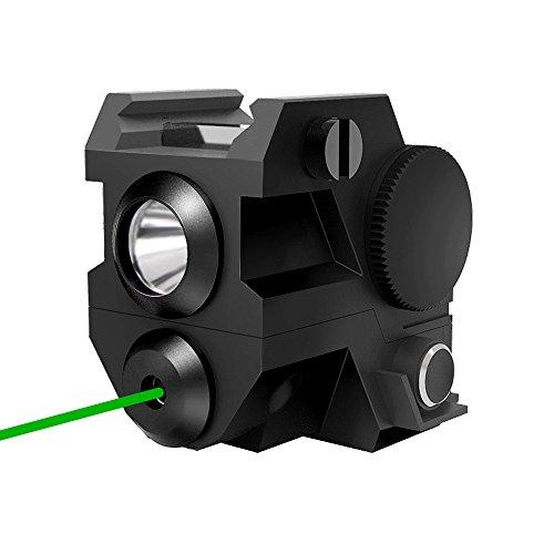 Pistola Táctica láser verde con luz led de bolsillo, 2 en 1,...