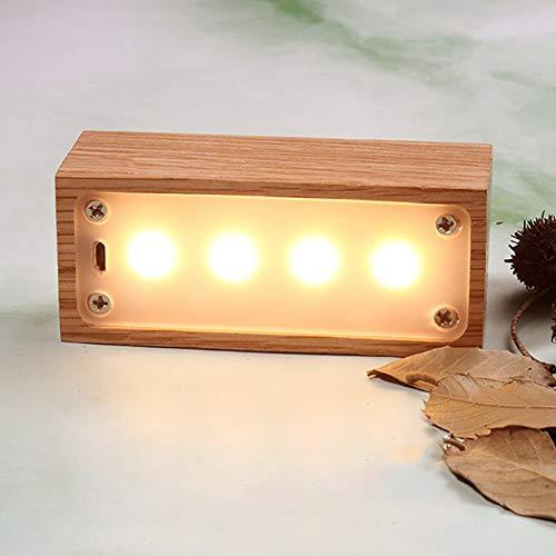 MHXXYD Usb Led Holz Schublade Box Form Licht Schreibtisch Nacht Lampe Tischlampen Leuchten Energiesparende Lichter -