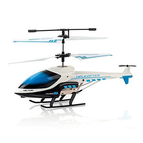 KOOWHEEL RC Hubschrauber, RC Helikopter mit LED-Licht, 3.5 Kanäle RC Flugzeug Spielzeug Geschenk für Kinder (Weiß)