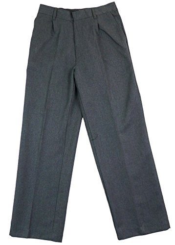 BOYS-SCHOOL-TROUSERS-CHARCOAL-GREY-BLACK-3-16-YEARS-EX-STORE-BRAND-NEW
