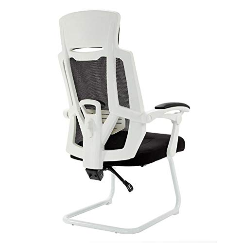 WYYY Bürostuhl Bürostuhl Neigefunktion Ergonomisch Hoher Rücken Computerstuhl Kopfstütze Executive Mesh Stühle Durable stark (Color : White) -