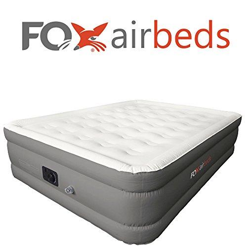Fox Airbeds Luftmatratze für King-Size-, Queen-, Full und Twin, Vinyl, grau, Queen - Twin Full Luftmatratze
