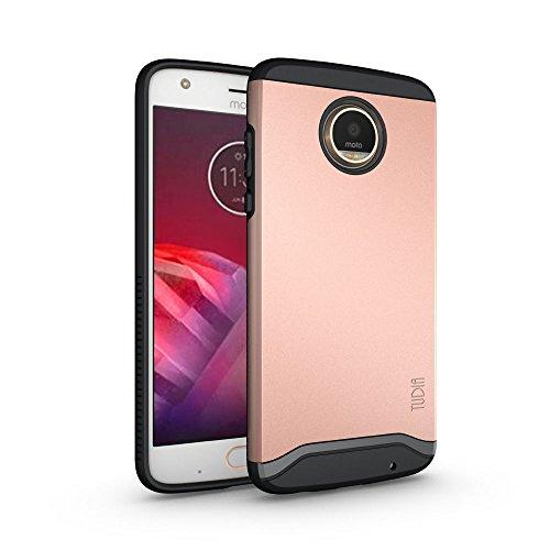Moto Z2 Play Hülle, TUDIA Slim-Fit MERGE Dual Layer Schutzhülle für Motorola Moto Z2 Play (Rose Gold)