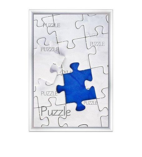 """Cadre à puzzle / photo """"Valencia"""" 60X84cm Alu brossé pour 1500-2000 Pièces"""