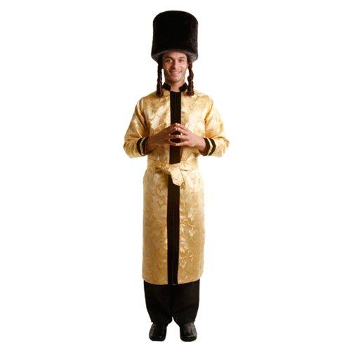 Jüdische Purim Kostüm - Dress up America Erwachsenenkostüm jüdischer Großrabbiner - S