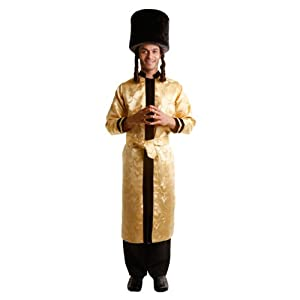 Dress Up America - Sotana de gran rabino judío, disfraz para adultos, talla S (352-S)
