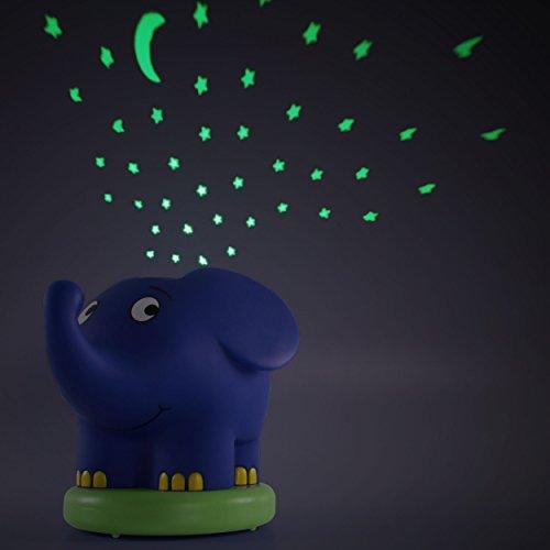 Imagen 7 de Ansmann 1800-0015 - Proyector de luz nocturno con estrellas en forma de elefante