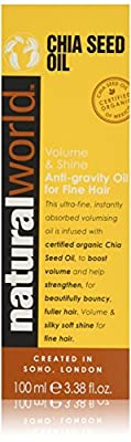 Natural World Chia Seed Oil Volume & Shine Anti-gravity Oil for Fine Hair 100 ml