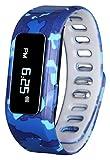 GabbaGoods Kinder Fitness Armbanduhr Activity Tracker, Kinder Smart Armbanduhr-, Wireless Tragbar Bedruckt Band Schrittzähler mit Kostenlose Mobile App