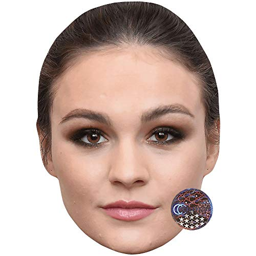 Skelton Maske - Celebrity Cutouts Sophie Skelton (Brown Hair)