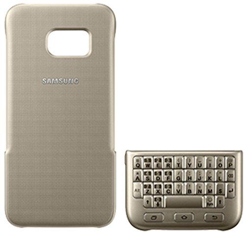 Samsung Keyboard Cover - Funda Galaxy S7 Edge, Color Dorado