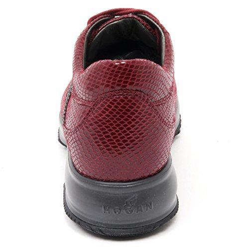 B8821 sneaker donna HOGAN INTERACTIVE scarpa H strass bordeaux shoe woman Bordeaux