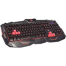 Woxter  FX80 K- Teclado Gaming retroiluminado, cromático, teclado español, conexión cable