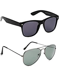 Xforia Uv Protected Fancy Wayfarer& Aviator Sunglasses For Men & Women Combo Of 2 (DX-FLX- 370 | Purple& Green...