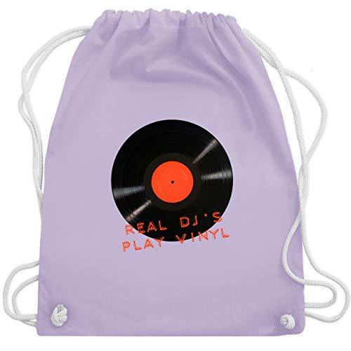 Techno & House - Real DJ\'s play Vinyl - Unisize - Pastell Lila - WM110 - Turnbeutel & Gym Bag