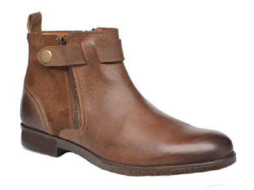 Chaussures bottines model TRISTAN en cuir par HGilliane Design Eu 33 au 46 brown