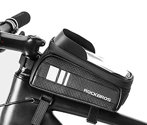 ROCKBROS Rahmentasche Fahrrad Wasserdicht Tasche Fahrradtasche Touchscreen Oberrohrtasche Handy 6,0