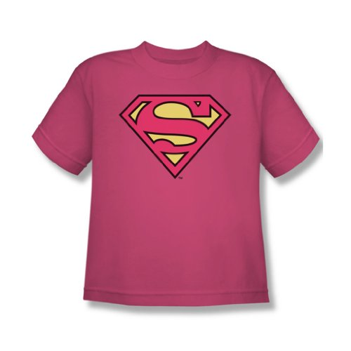Dc Comics - Pinky Shield Jugend T-Shirt in Pink Sheer Hot Pink