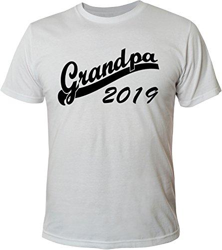 Mister Merchandise Herren Men T-Shirt Grandpa 2019 Tee Shirt bedruckt Weiß