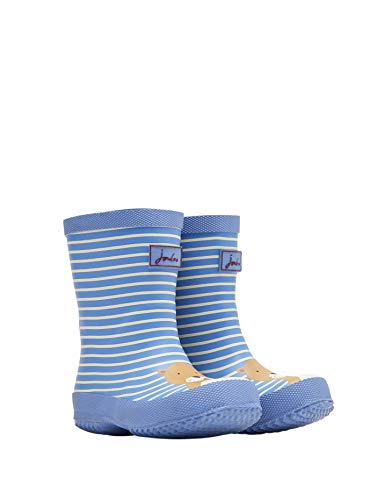 Joules Baby Printed Wellies - Blue Otter Stripe