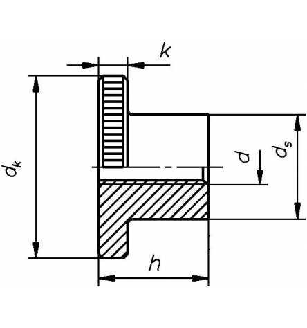 Reidl Rändelmuttern hohe Form M 6 DIN 466 Automatenstahl blank 1 Stück
