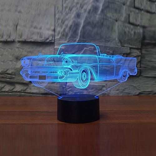 Kühle Cabrio Auto 3D Lampe 7 Farbwechsel LED Luminaria Nachtlicht 3D Illusion Lampe Licht Schlafzimmer Beleuchtung für Kinder Spielzeug Geschenk han-10048