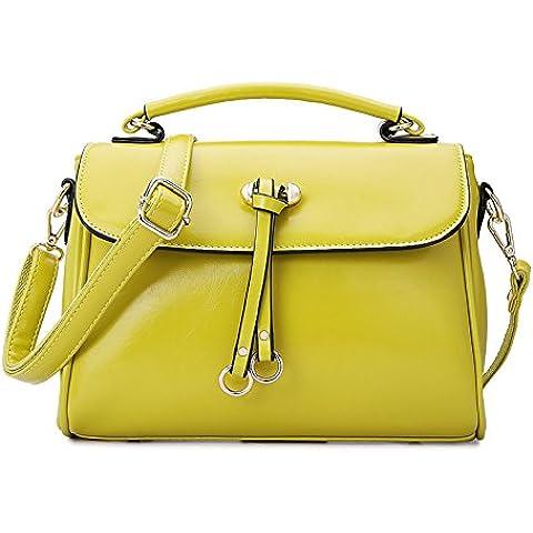 GQQ NUEVOS bolsos de hombro bolsos moda Dacron PU para la parte comercial y en el trabajo hasta 5 L GQ bolso @ , yellow