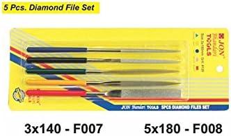 JON BHANDARI TOOLS Mini Diamond Needle Files Set Knife Tool for Smooth Ceramic Marble Plastics Metals