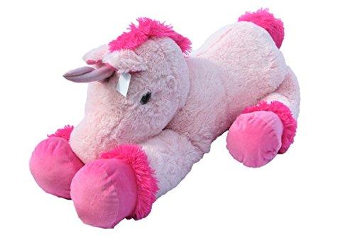 XXL Einhorn Plüschtier ca. 110 cm große Kuscheltier rosa pink - Riesen Stofftier Einhorn