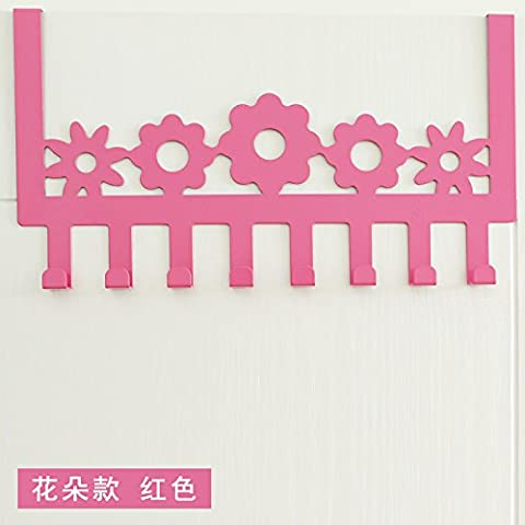 puerta de acero inoxidable minimalista después de ganchos no están libres de arañazos clavija puertas ganchos de percha dormitorio escudo perchas de puerta trasera, [flores de orquídeas - tóner romántica]