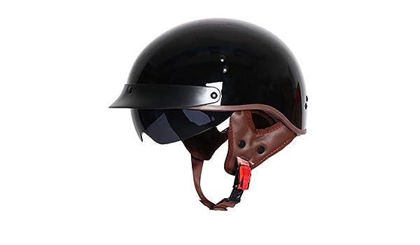 ZYLHC Halbe Abdeckung Motorradhelm, Einziehbare Sonnenbrille