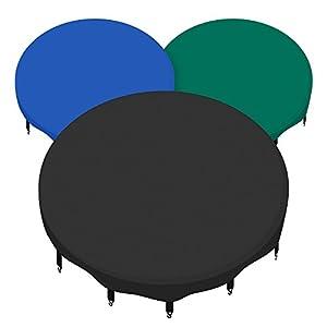 awm® Trampolin Abdeckplane Regenabdeckung Schutzplane 244 305 366 400 430 460 cm schwarz blau grün
