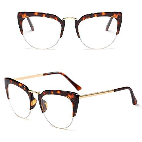 Damenmode-Metallstraßen-Schnapsgläser, verzieren einfache Gläser. Brille (Farbe : Leopard/Clear)