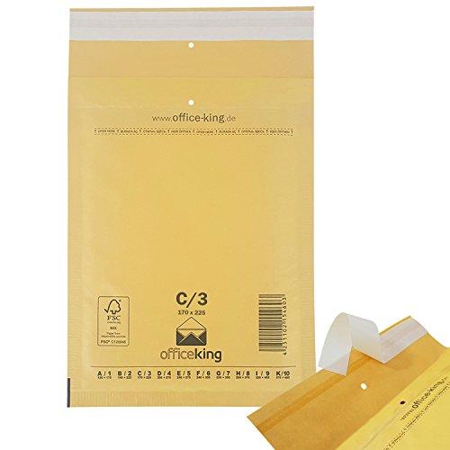 OfficeKing Luftpolstertaschen reißfest 100 Stk Braun C/3 | 170 x 225mm DIN A5 B6+