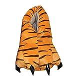 LaoZan Winter Indoor Warm Unisex Puschen Plüsch Hausschuhe Pantoffeln Tierhausschuhe Unisex Kinder Tiger 40/44
