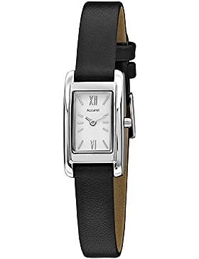 Accurist Classic weiß Zifferblatt schwarz Lederband Damen-Armbanduhr ls642W