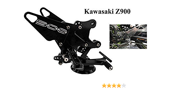 Cnc Alu Fußrastenanlage Passend Für Kawasaki Z900 Zr900b 2017 2018 Auto