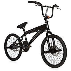 """Moma Bikes Bicicleta Competicion BMX FREESTYLE 360ª - Alu, Doble Freno Disco - Ruedas 20"""""""