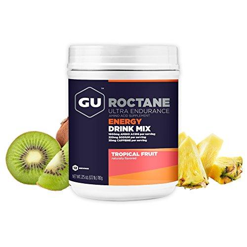 GU Roctane Ultra Endurance Energy Drink, Tropical Fruit (Tropische Früchte) - Kohlenhydrat-Electrolyte-Getränkepulver, 780 g Dose